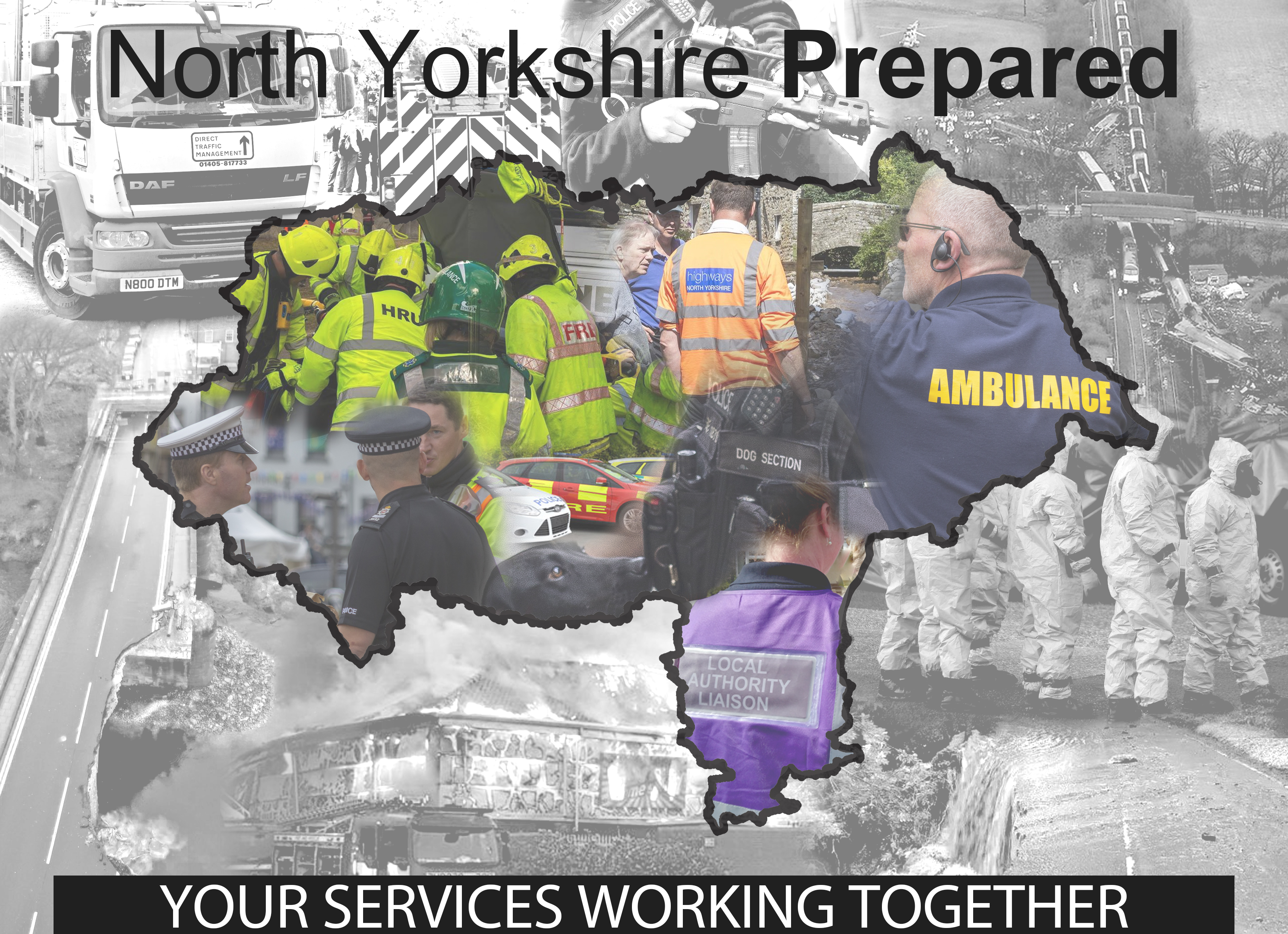 North Yorkshire Local Resilience Forum image of map and agencies